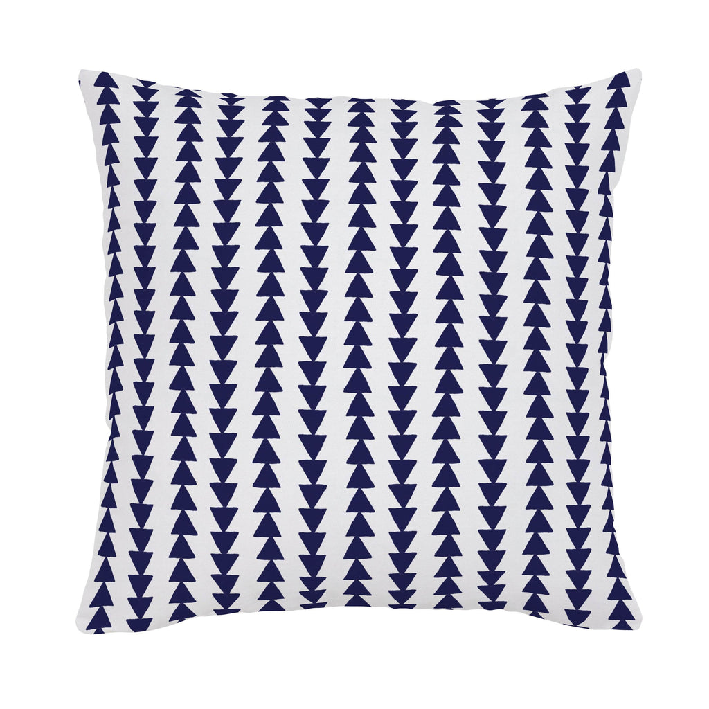 Product image for Windsor Navy Arrow Stripe Throw Pillow