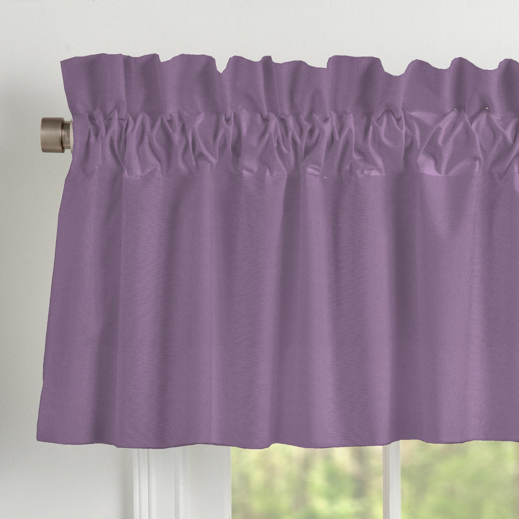 Product image for Solid Aubergine Purple Window Valance