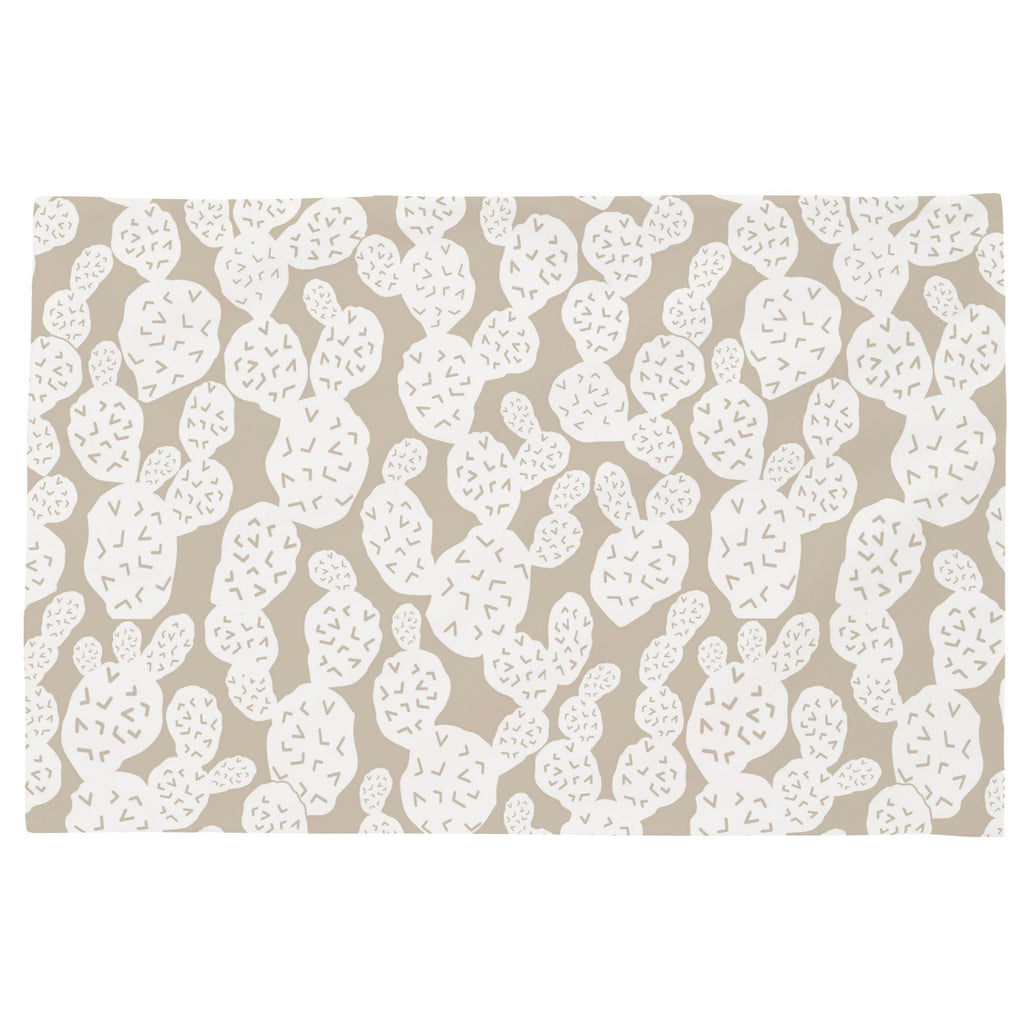 Product image for Taupe Prickly Pear Toddler Pillow Case