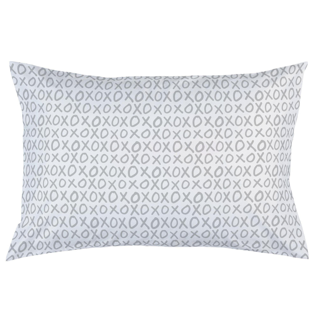 Product image for Silver Gray XO Pillow Case