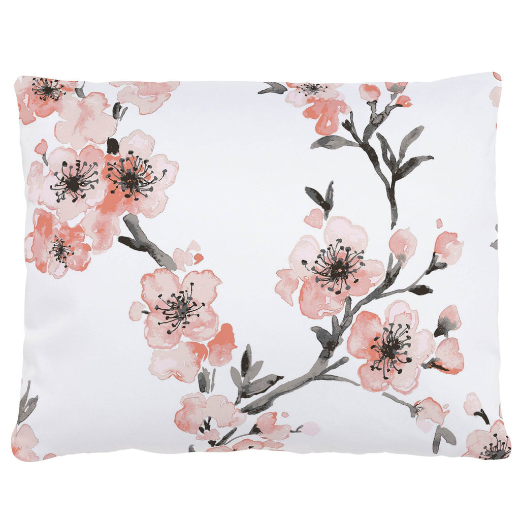 Product image for Light Coral Cherry Blossom Accent Pillow