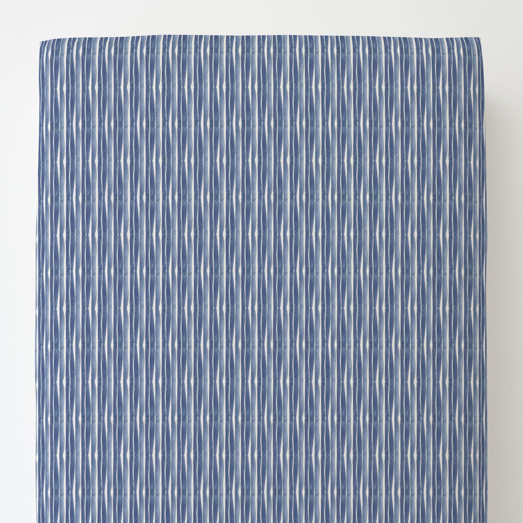 Product image for Blue Ocean Stripe Toddler Sheet Bottom Fitted
