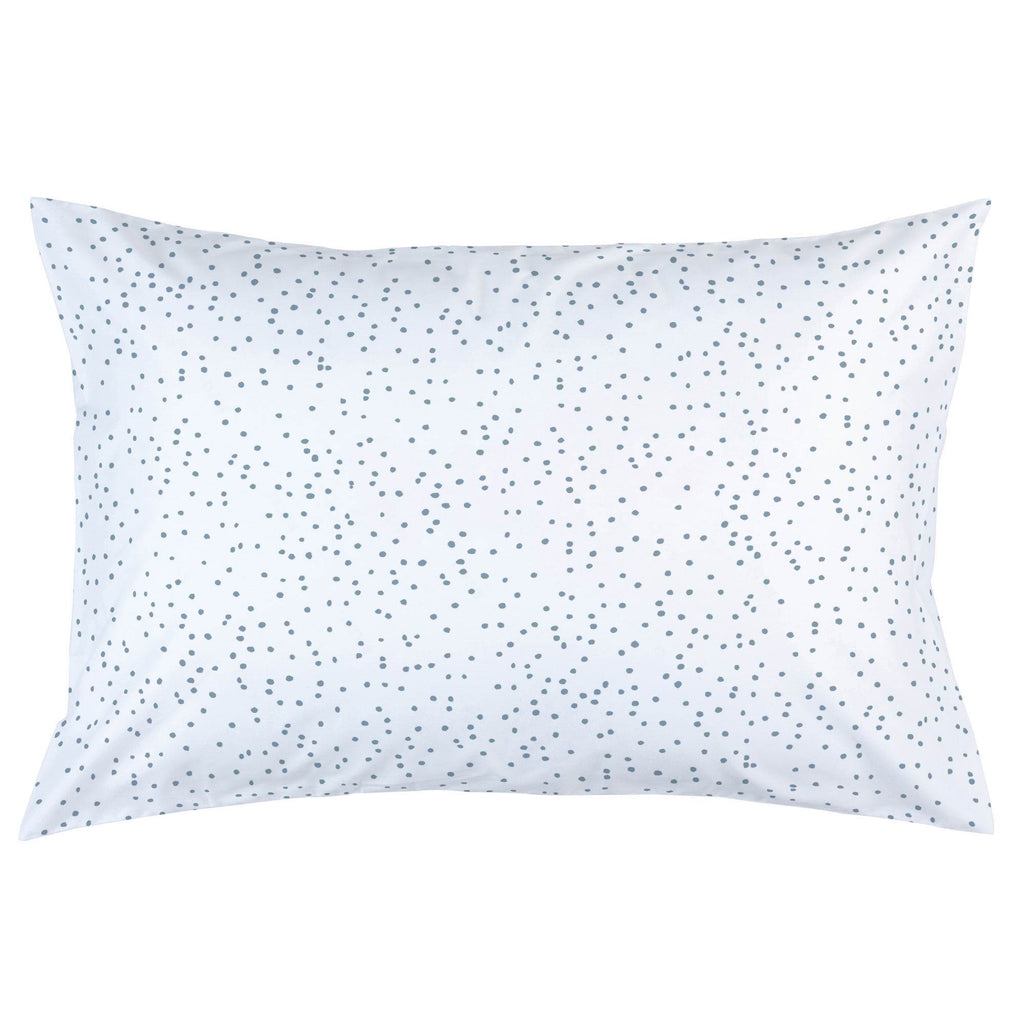 Product image for Steel Blue Snowfall Pillow Case