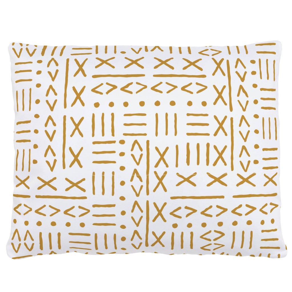Product image for Mustard Mudcloth Accent Pillow
