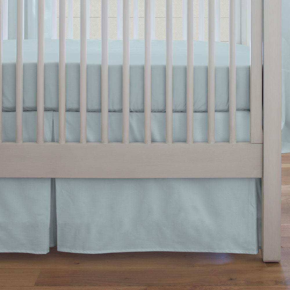 Product image for Solid Robin's Egg Blue Crib Skirt