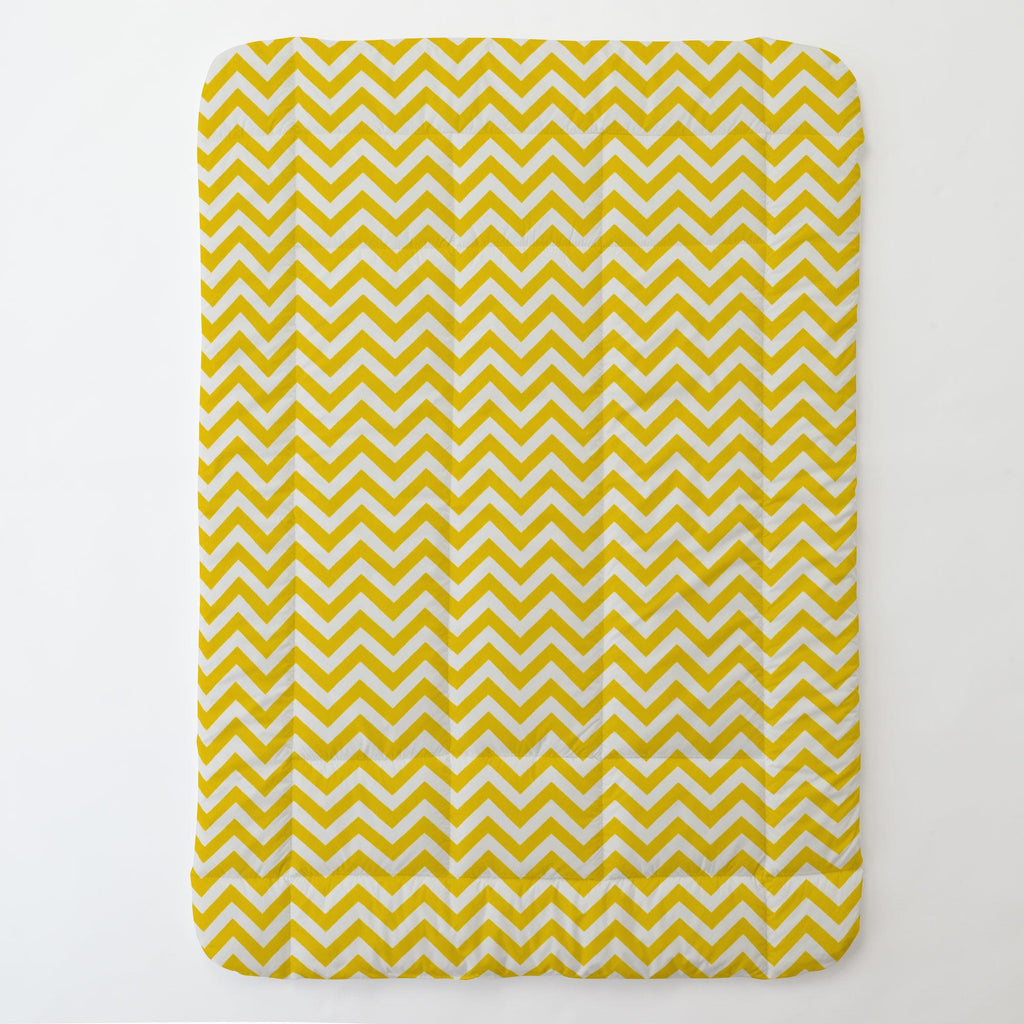 Product image for Yellow Zig Zag Toddler Comforter