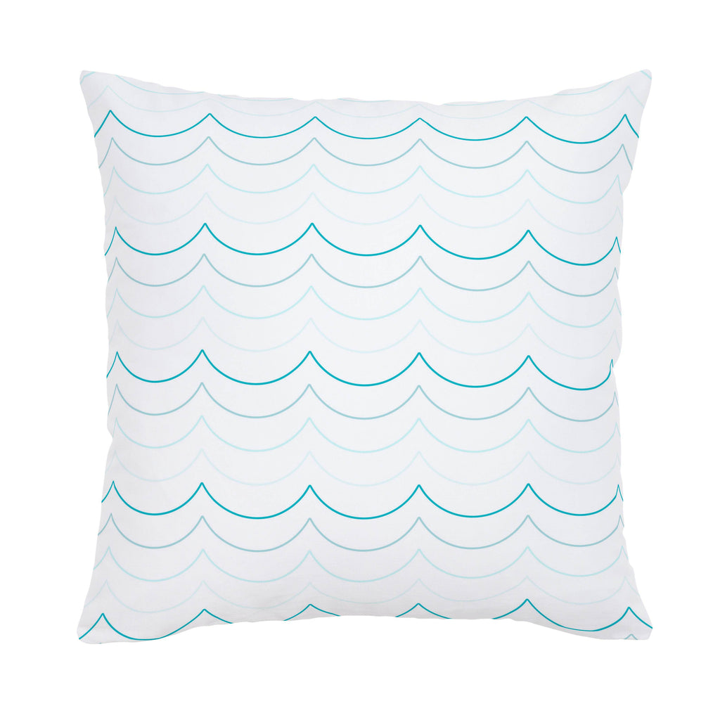 Product image for Teal Wave Stripe Throw Pillow