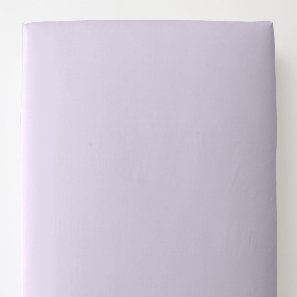 Product image for Solid Lilac Toddler Sheet Bottom Fitted