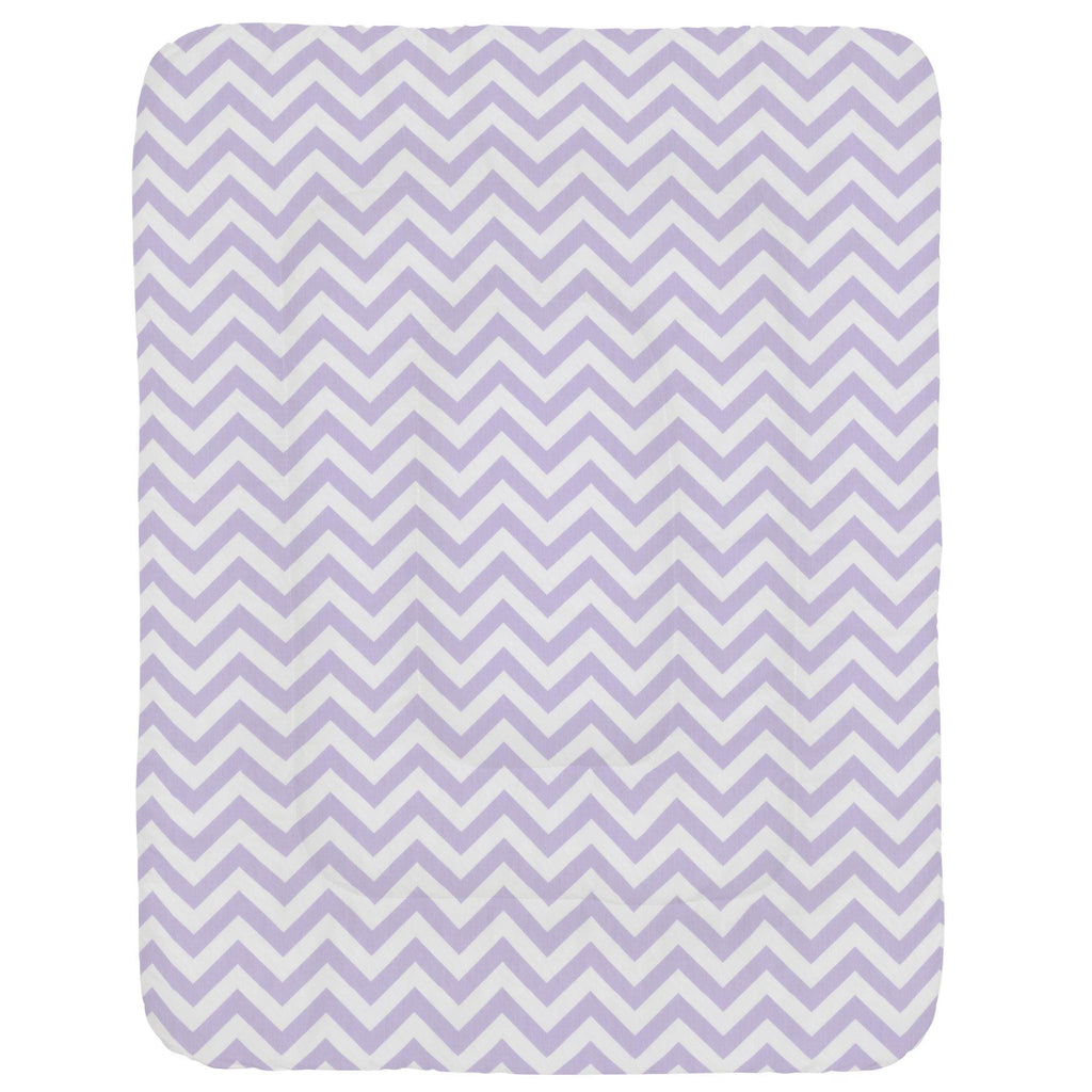 Product image for Lilac and White Zig Zag Crib Comforter