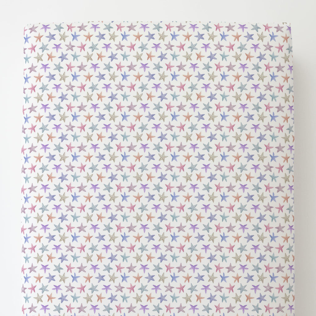 Product image for Watercolor Starfish Toddler Sheet Bottom Fitted
