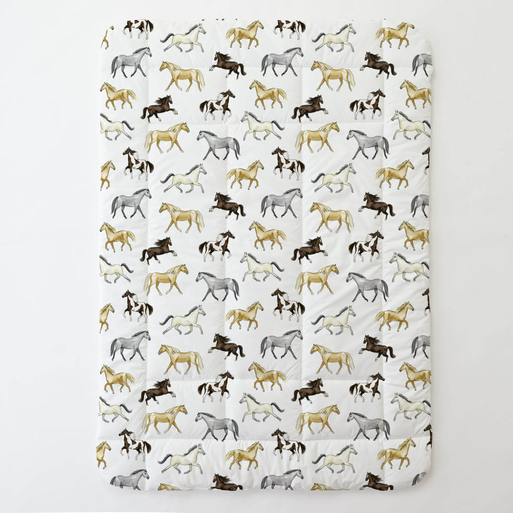 Product image for Watercolor Horses Toddler Comforter