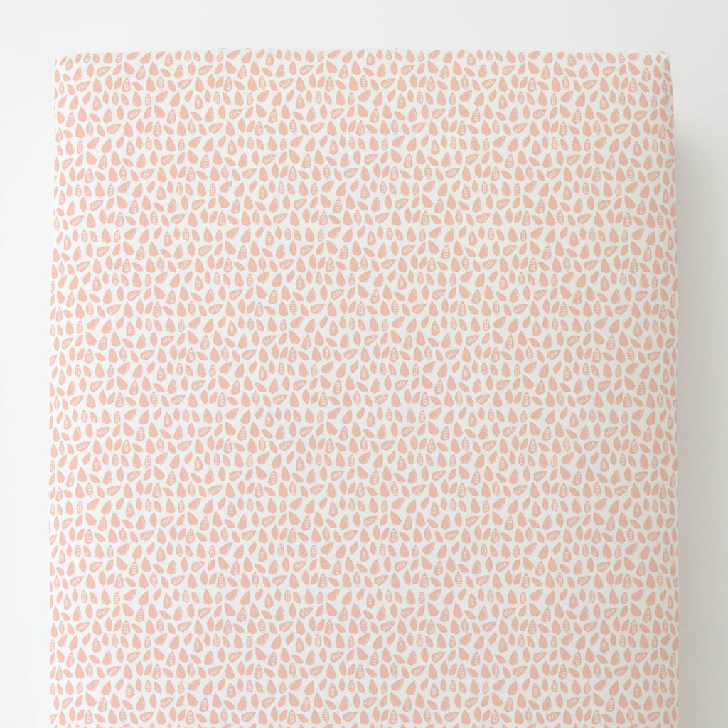 Product image for Peach Woodland Leaf Toddler Sheet Bottom Fitted