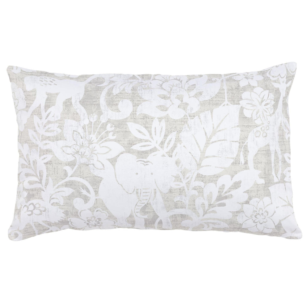 Product image for French Gray and White Jungle Lumbar Pillow
