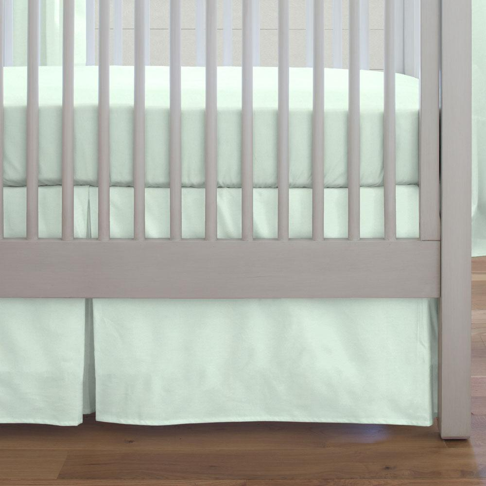 Product image for Solid Icy Mint Crib Skirt