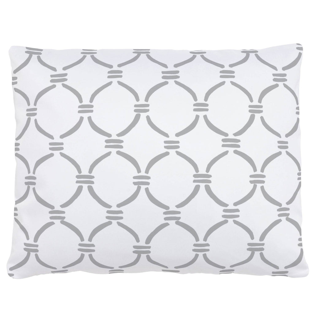 Product image for Silver Gray Lattice Circles Accent Pillow