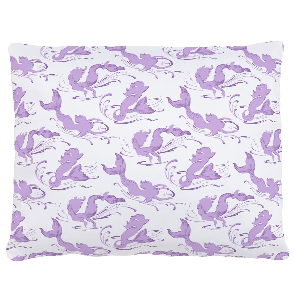 Product image for Purple Swimming Mermaids Accent Pillow