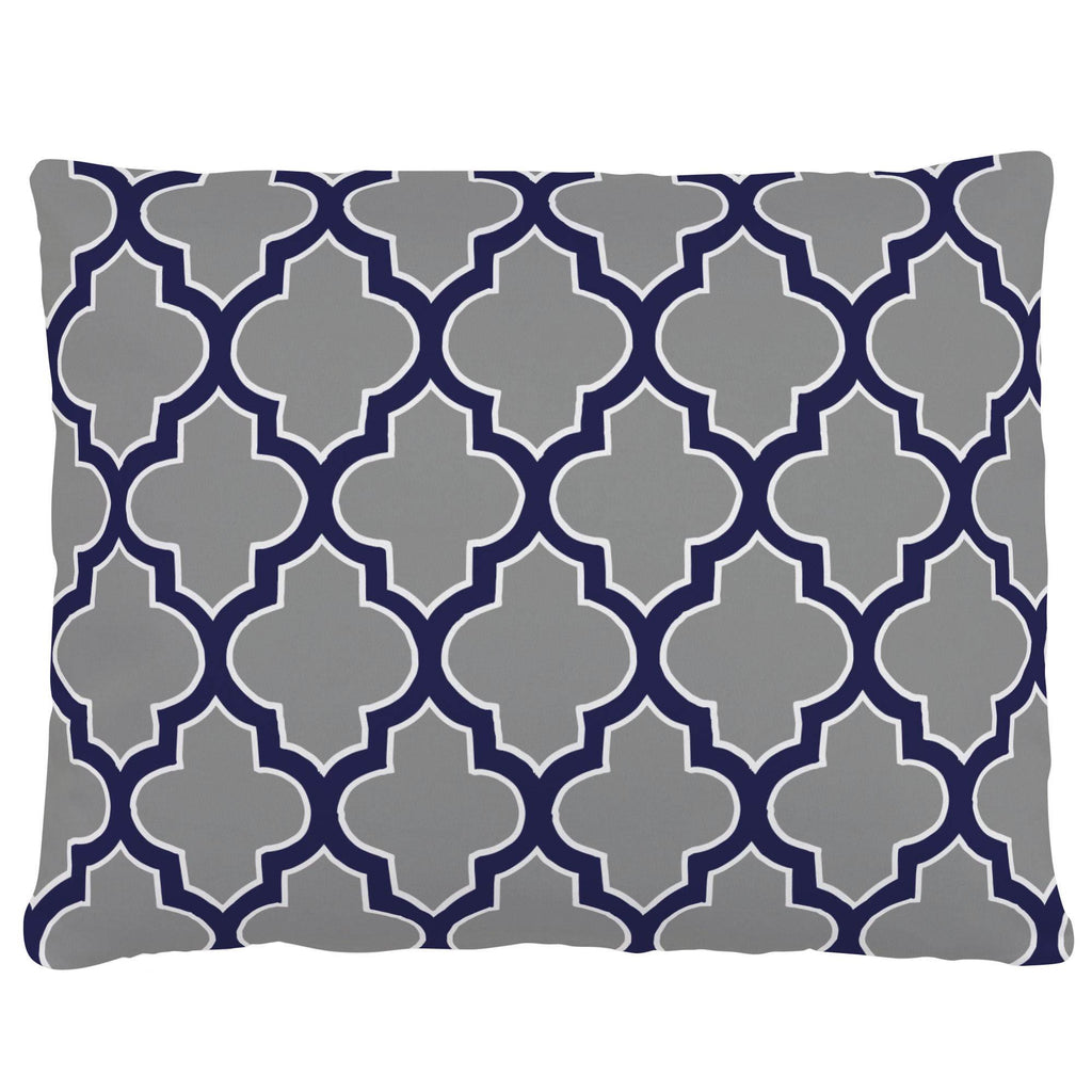 Product image for Cloud and Navy Hand Drawn Quatrefoil Accent Pillow