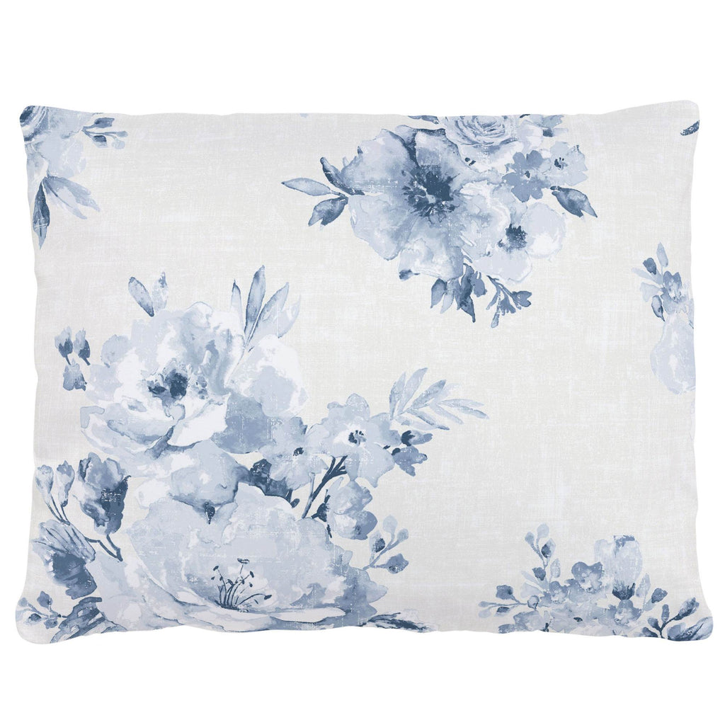 Product image for Blue Farmhouse Floral Accent Pillow