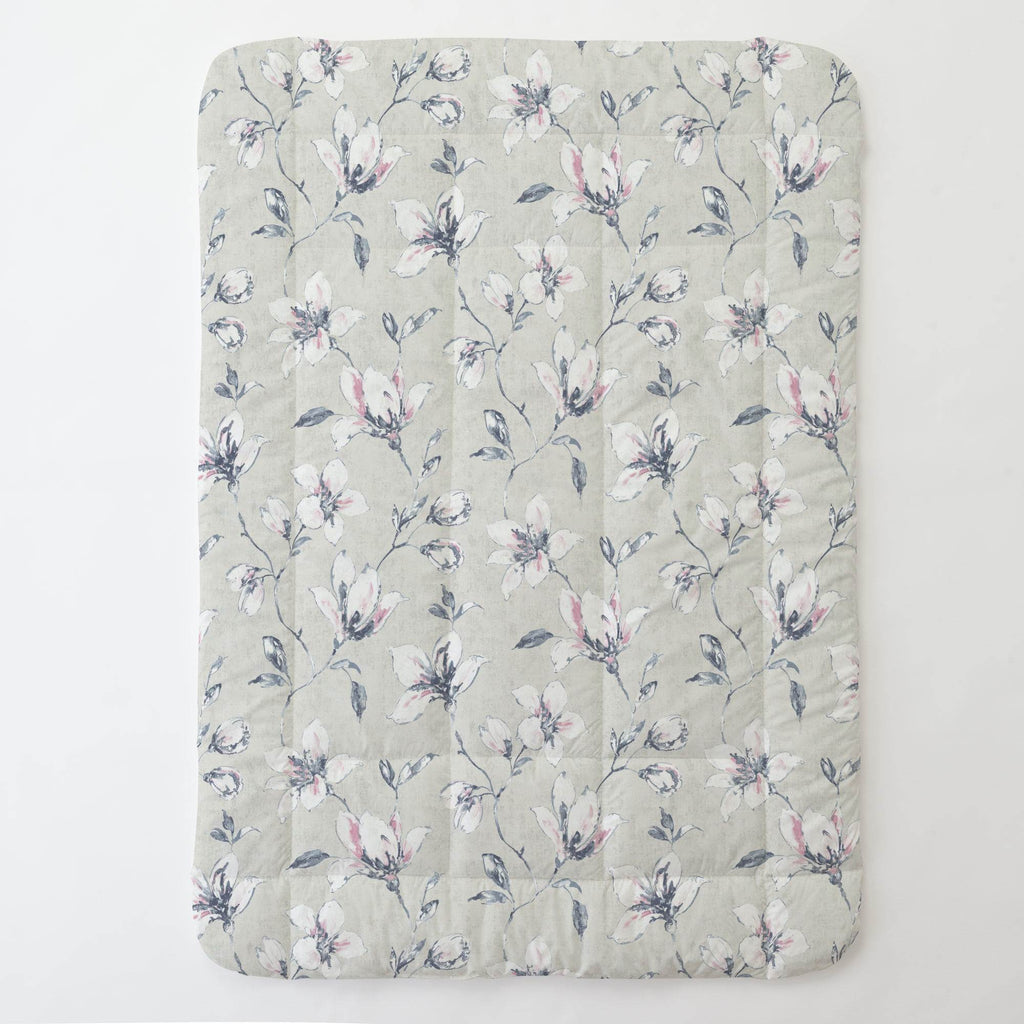 Product image for Pink and Blue Painted Lilies Toddler Comforter