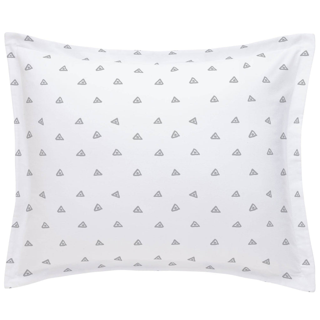 Product image for Silver Gray Triangle Dots Pillow Sham