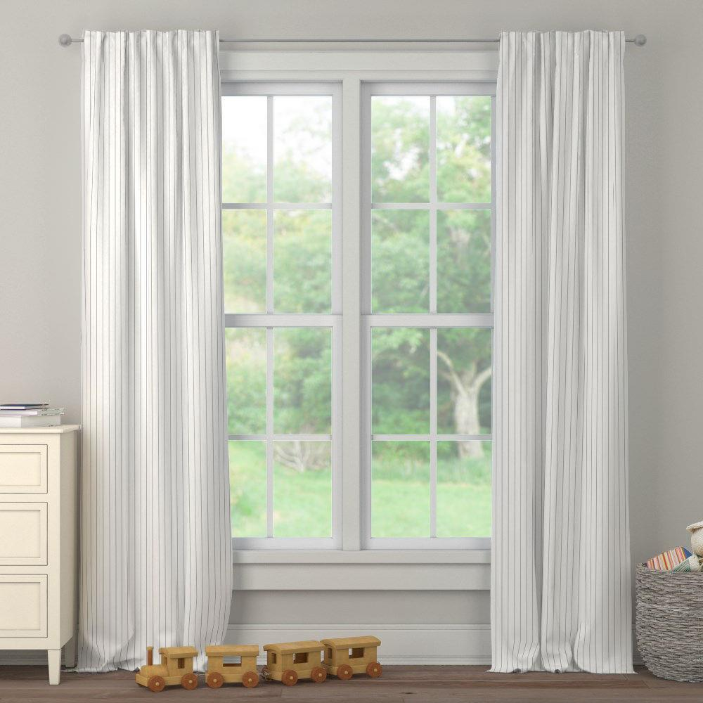 Product image for Cloud Gray Pinstripe Drape Panel