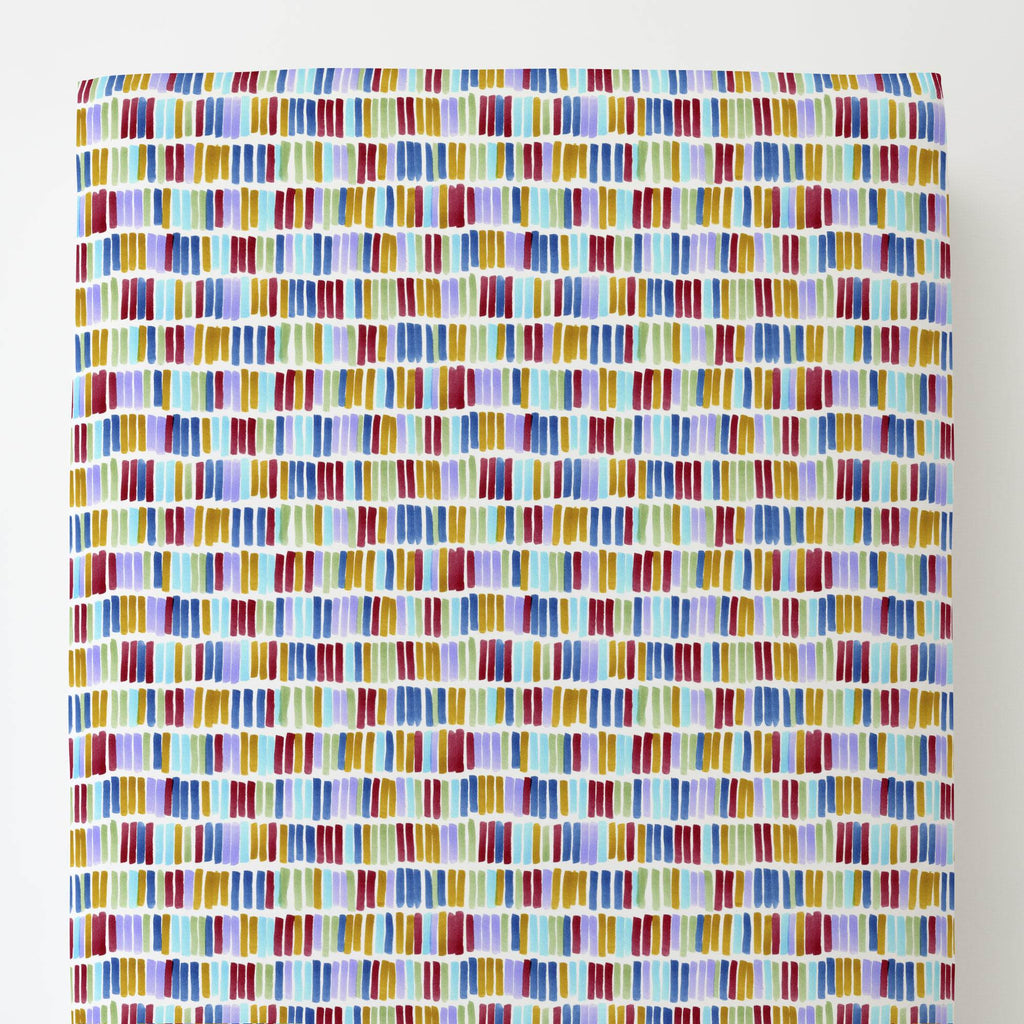 Product image for Colorful Bars Toddler Sheet Bottom Fitted