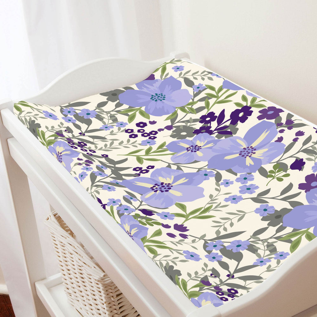 Product image for Lavender Floral Tropic Changing Pad Cover