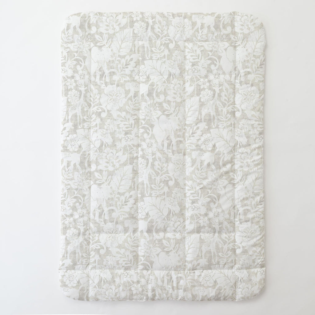 Product image for French Gray and White Jungle Toddler Comforter