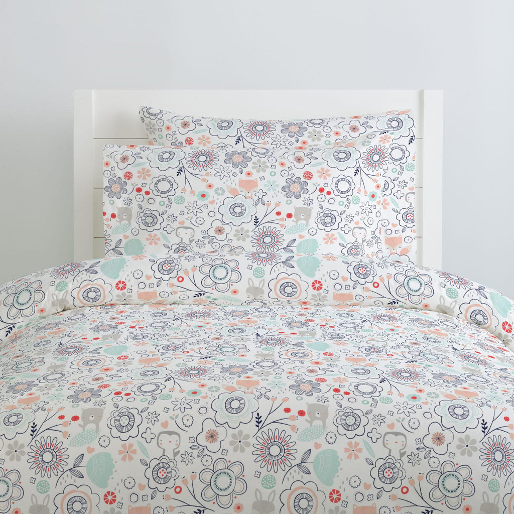 Product image for Coral Spring Doodles Duvet Cover