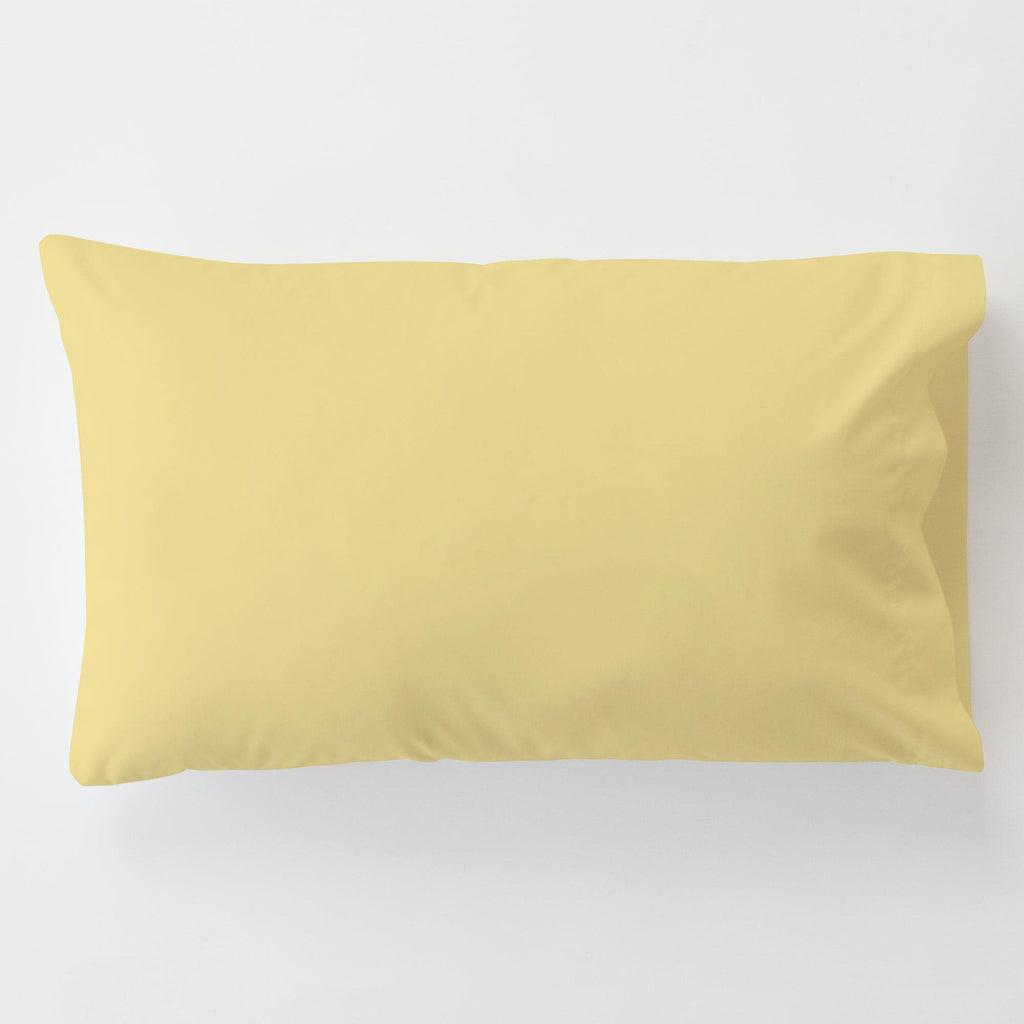 Product image for Solid Banana Toddler Pillow Case with Pillow Insert
