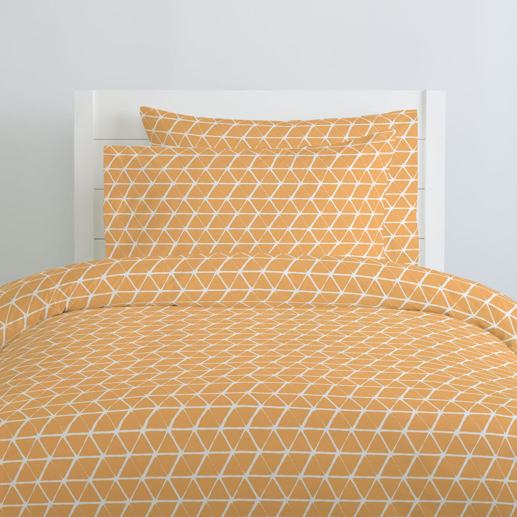 Product image for Light Orange Aztec Triangles Duvet Cover