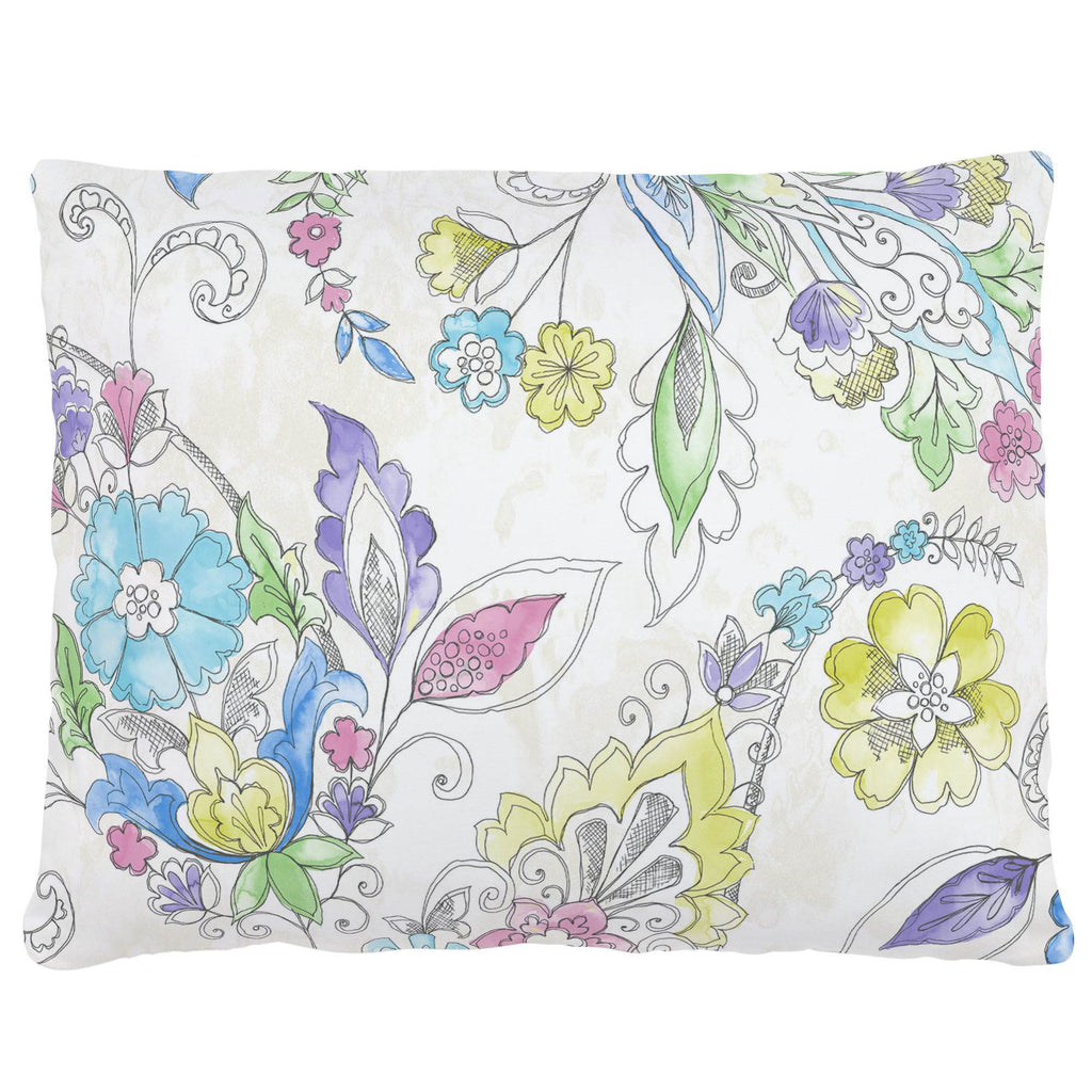 Product image for Sketchbook Floral Accent Pillow