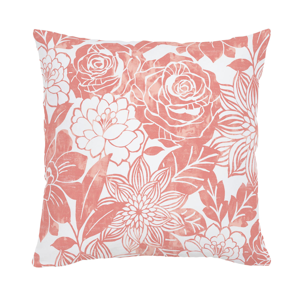 Product image for Light Coral Modern Blooms Throw Pillow