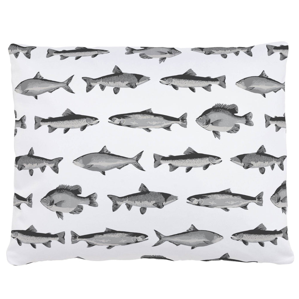 Product image for Gray Fish Accent Pillow
