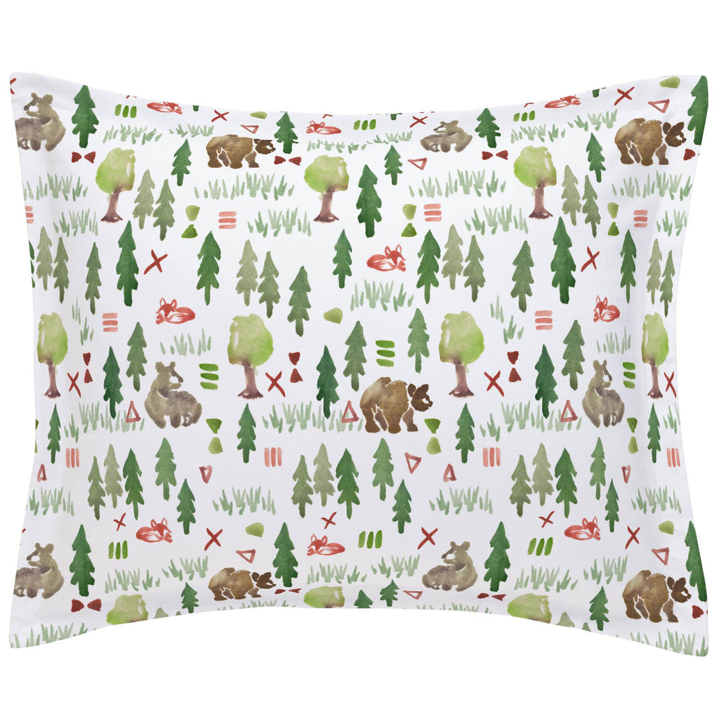 Product image for Watercolor Forest Pillow Sham