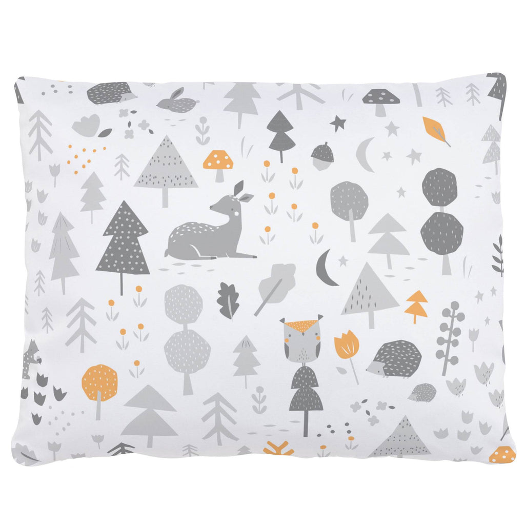 Product image for Light Orange and Silver Gray Baby Woodland Accent Pillow