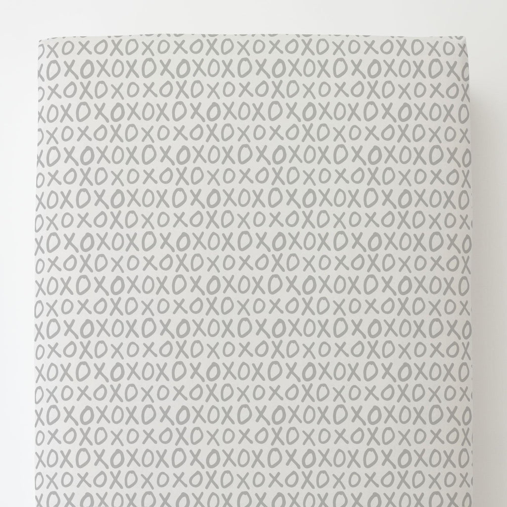 Product image for Silver Gray XO Toddler Sheet Bottom Fitted