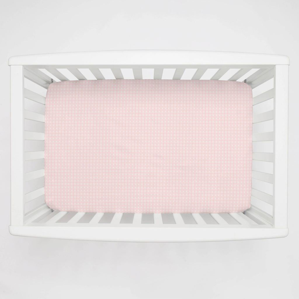 Product image for Pink Circles Mini Crib Sheet