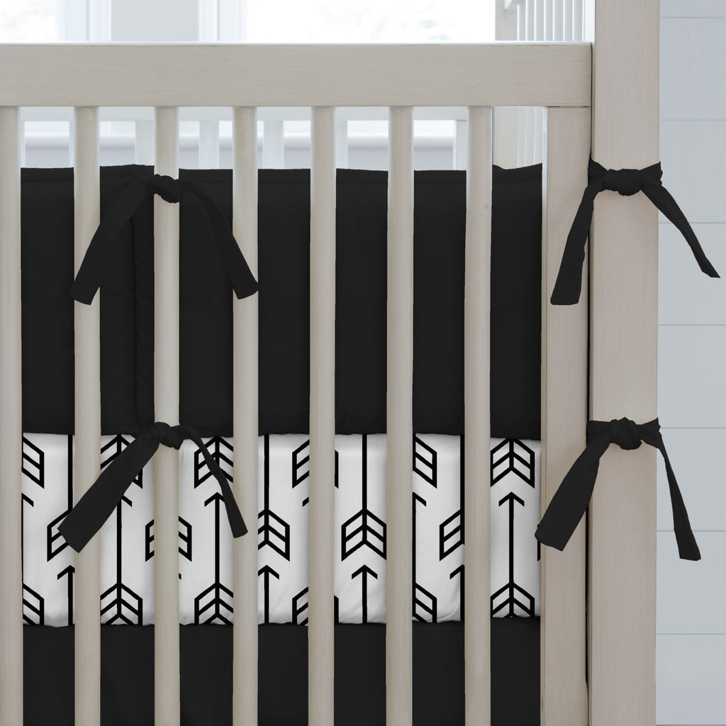 Product image for Solid Black Crib Bumper