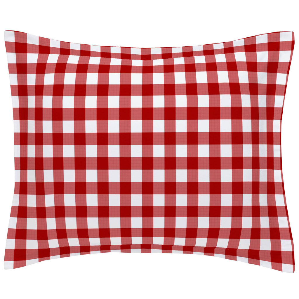 Product image for Red Gingham Pillow Sham