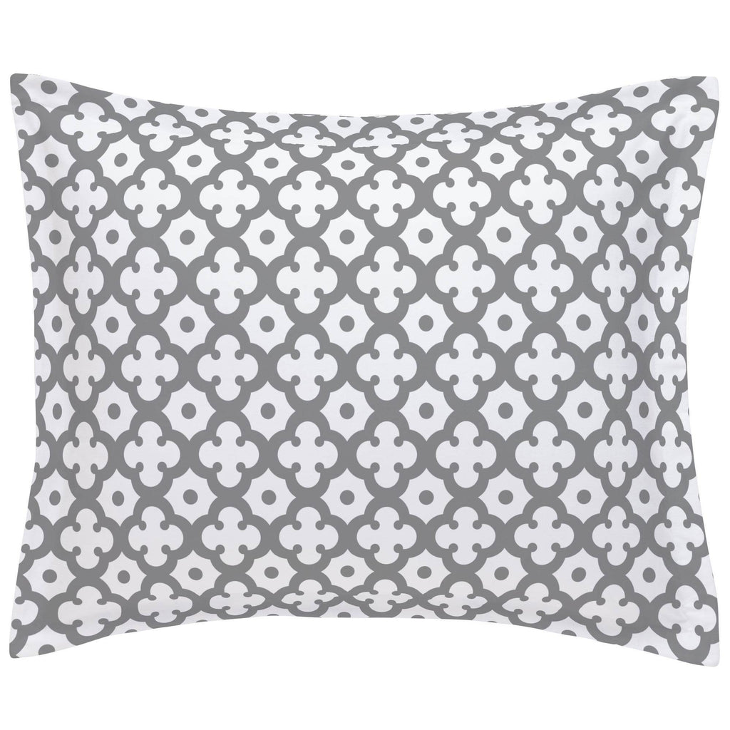 Product image for Cloud Gray Moroccan Tile Pillow Sham