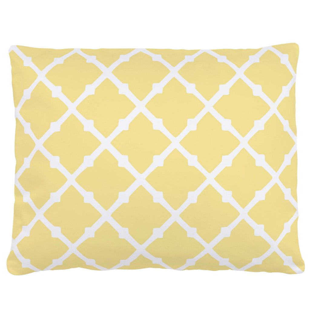 Product image for Banana Yellow Lattice Accent Pillow
