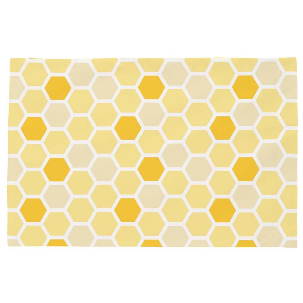 Product image for Yellow Honeycomb Toddler Pillow Case