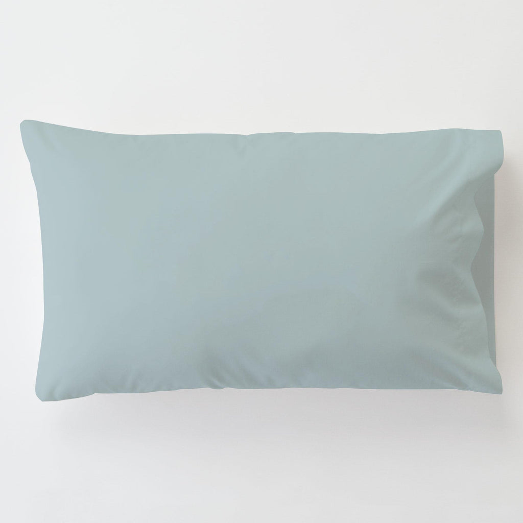 Product image for Solid Robin's Egg Blue Toddler Pillow Case with Pillow Insert