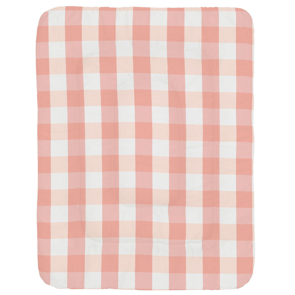 Product image for Light Coral and Peach Buffalo Check Crib Comforter