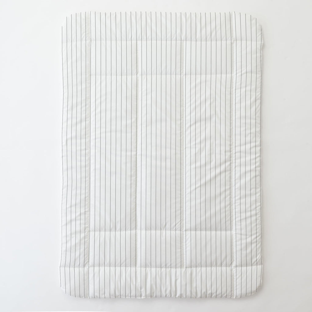 Product image for Cloud Gray Pinstripe Toddler Comforter