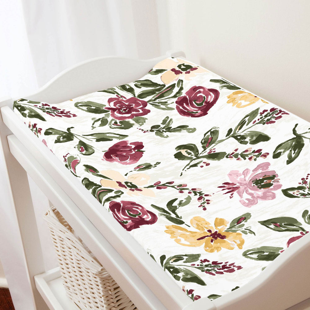 Product image for Merlot Garden Changing Pad Cover