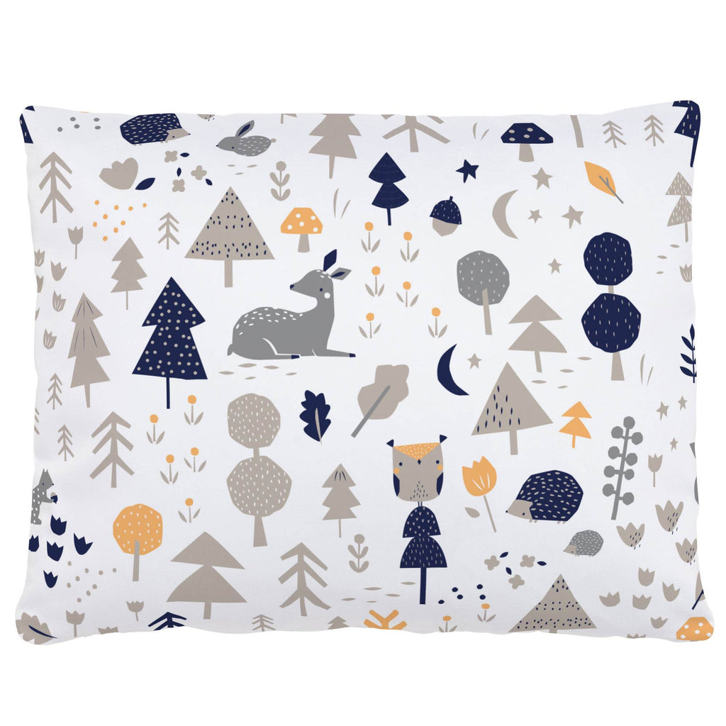 Product image for Taupe and Windsor Navy Baby Woodland Accent Pillow