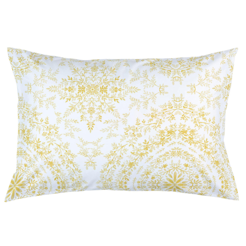 Product image for Yellow Floral Damask Pillow Case