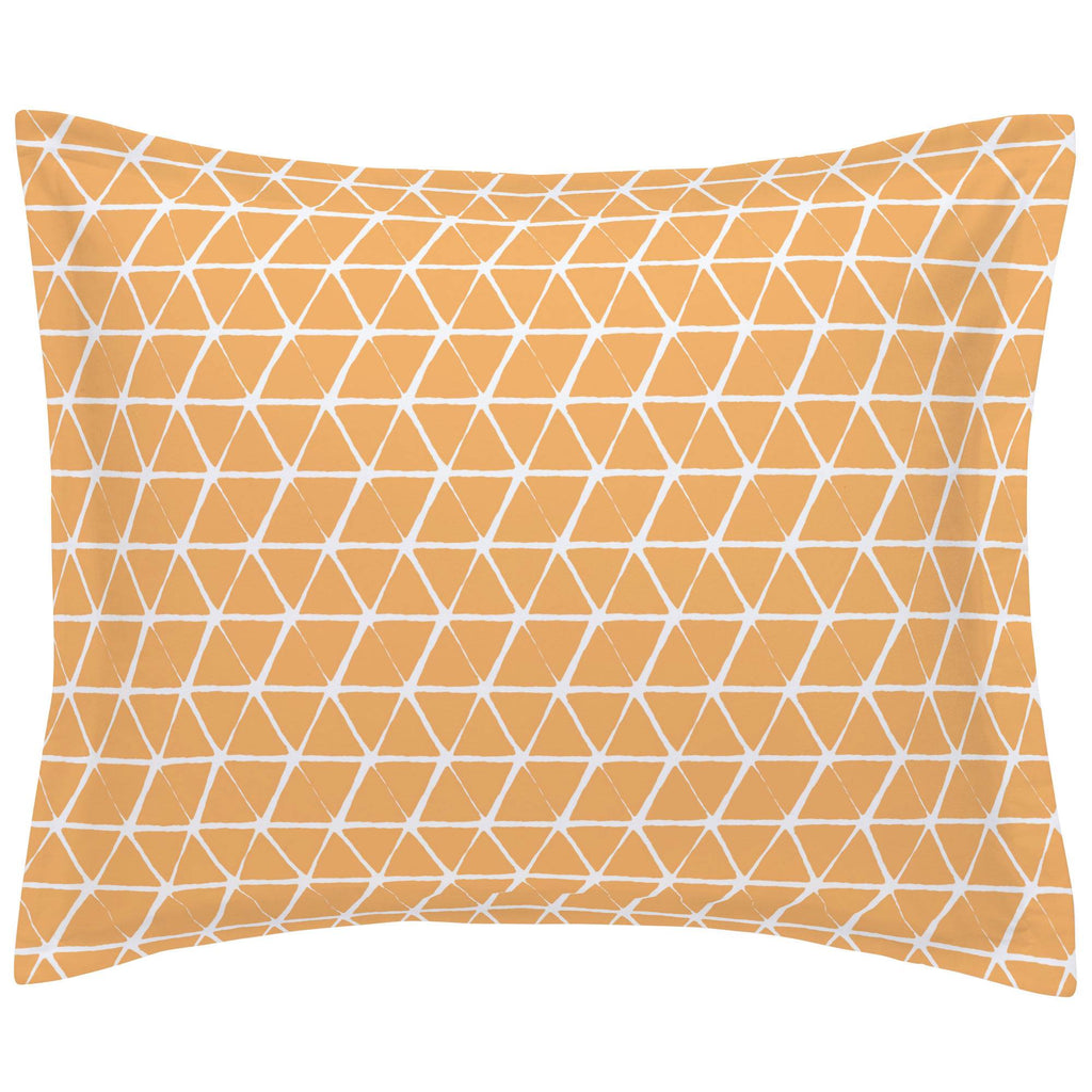 Product image for Light Orange Aztec Triangles Pillow Sham